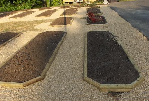 Installing gravel walkways