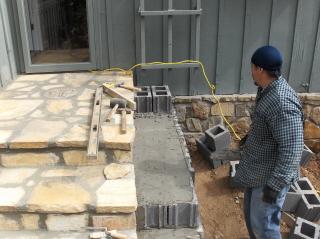 "Building the foundation for a ""plant shelf"""