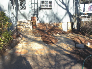 A new entrance to home and garden.  What a difference!!