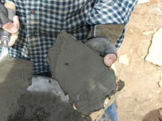 It's all in how you apply the cement.  It starts with a thin layer over the entire rock surface