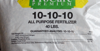 Basic 10-10-10 fertilizer.  What do the numbers mean?