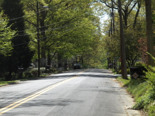 Oakwood Street is aptly named.  It runs between rows of beautiful trees and well kept yards.