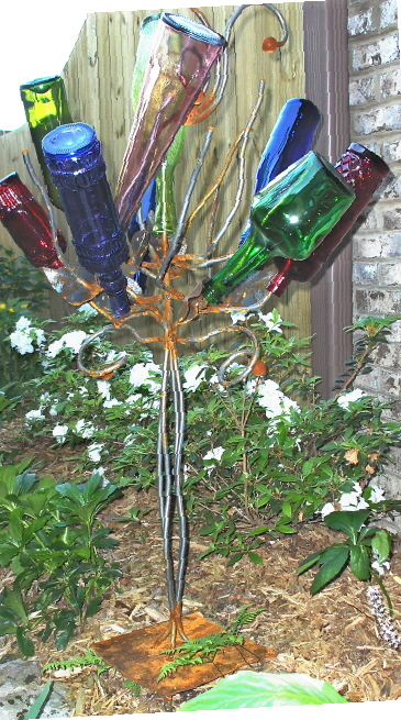 bottle tree by Stephanie Dwyer