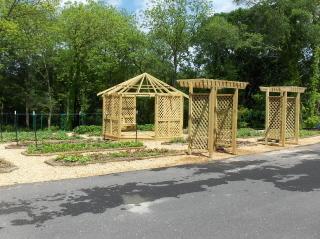 New gazebo and entrance arbors