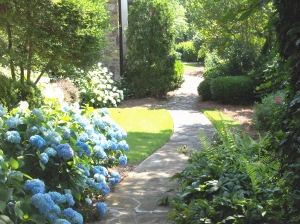 Around a corner and into a garden