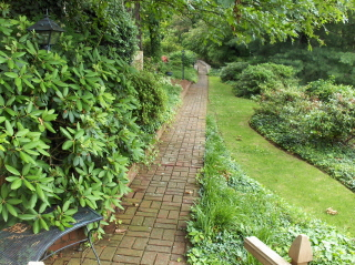 We found this walkway under 6 feet of ivy and virginia creeper
