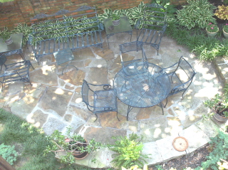 a most special flagstone patio