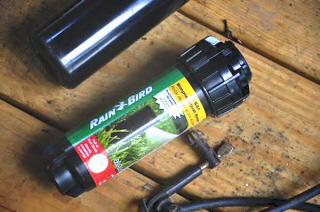 From the Home Depot irrigation department I chose the  Rainbird 42SA (S.A. stands for Simple Adjustment, 42 stands for the range).
