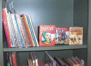A display of old children's books