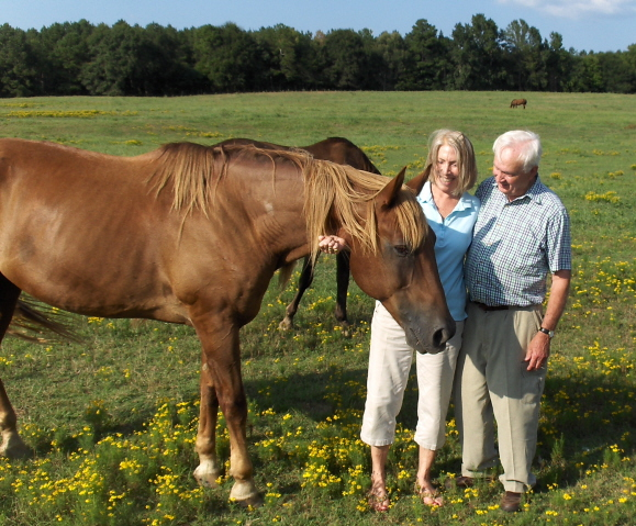 Bob and Micheline Hicks with Shingle
