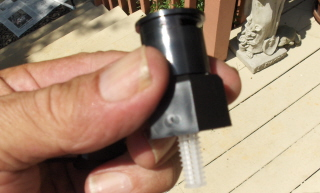 The Rain Bird nozzle with shrub (pipe) adaptor.  Screw them on the risers