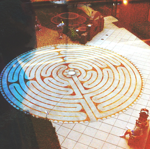 Labyrinth at Jack Matney Memorial Courtyard, Presbyterian Hospital, Charlotte, N.C.