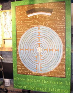 Painting of a labyrinth in the planning stages