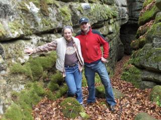 Brian and Dekie enjoy the hidden clearing