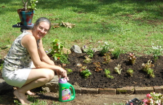 "The flowers are planted. My new father in law said, ""Happy wife, Happy life"" I'm listening"
