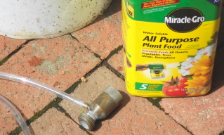 The syphonex is the best, easiest, and most accurate way I've found to apply liquid fertilizer through a hose.