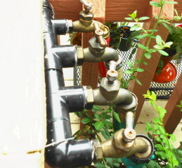 outdoor faucets raised to deck level