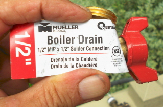 The boiler drain makes an easy to use outdoor faucet