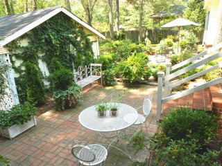 Peace and serenity abound in this beautiful and relaxing back yard garden