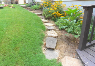 Rock garden steps with a retaining wall--part one (2/6)