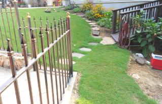 Rock garden steps with a retaining wall--part one (3/6)