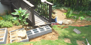 stop here to determine level of retaining wall