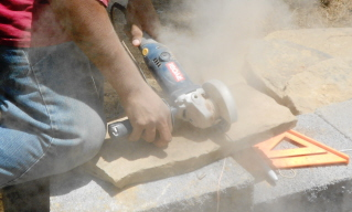 cutting steps for stone risers