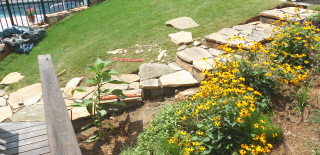 Building stone steps with a retaining wall—part two (6/6)