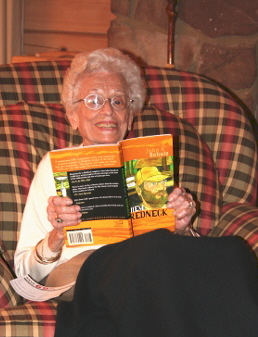Mrs. Garnett Cobb enjoys the book
