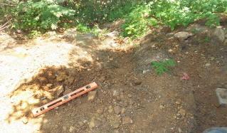 Nasty erosion area needs fixing