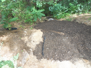 wash out is filled with compost