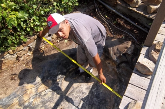 Measure carefully to determine liner size for water feature