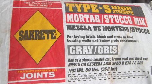 mortar for installing brick pavers