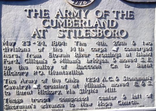 Stilesboro historical marker