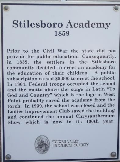 Stilesboro Academy sign