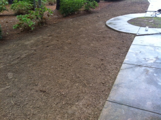 Soil is ready for grass seed and fertilizer application