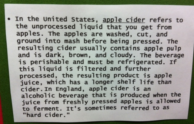 information about apple cider