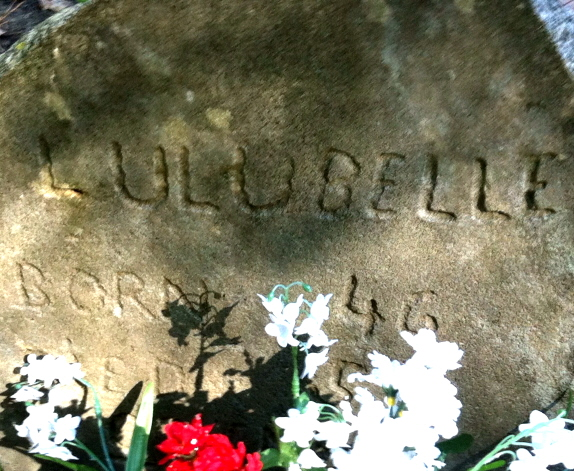 Here Lies Lulu Bell, Prize champion coon hound. Born 1945