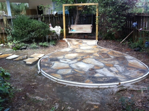 new patio ready for landscaping