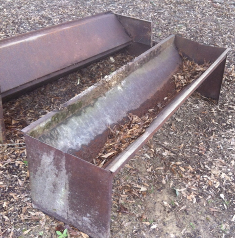 can we turn this rusty feed trough into a water feature?