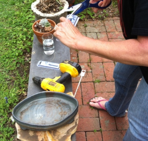 Drill Drainage Holes In Ceramic Containers To Create