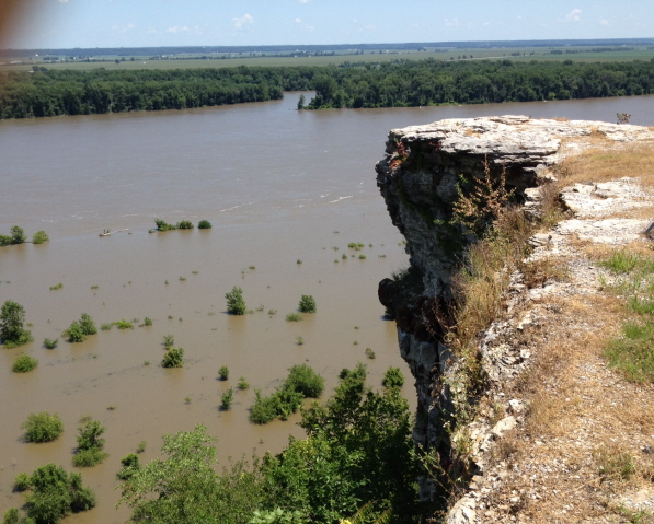 Flooded Mississippi from Lover's Leap near Hannibal, Missouri--childhood home of Mark Twain