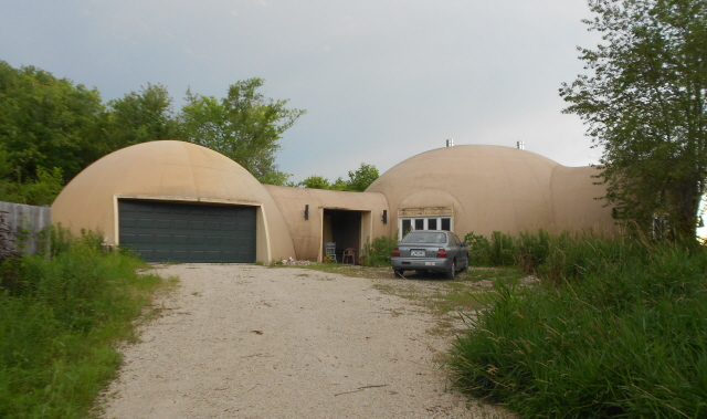 The Swanson's new Dome House near Des Moines, Iowa