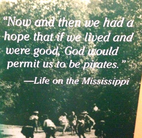 From Mark Twain's birth place, Hannibal Missouri