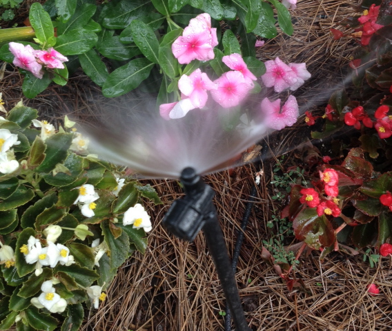 A micro-mister spray head. inexpensive and efficient