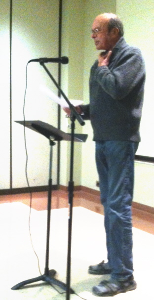 John Schulz gives a motivational talk to the Rome Area Writers.