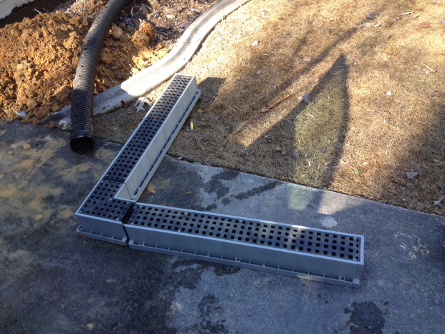 A good drainage system for use in driveways and around buildings